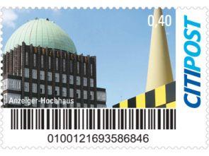 """Markenheft Postkarte """"Anzeiger Hochhaus"""""""