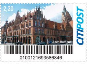 """Markenheft Maxibrief """"Altes Rathaus"""""""