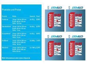 """4er Markenheft Standardbrief """"Antenne STARS for FREE"""" 0,70"""
