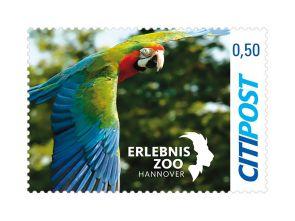 "Markenheft Postkarte ""150 Jahre Erlebniszoo Hannover"" 0,50 €"